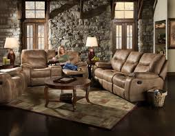 Recliner Sofas And Loveseats by Waylon Mocha Glider Reclining Sofa And Loveseat My Furniture Place