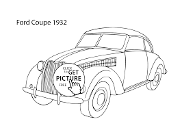 super car ford coupe 1932 coloring page cool car printable free