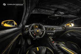 Ferrari F12 Yellow - carlex design gives yellow ferrari f12 a new interior autoevolution