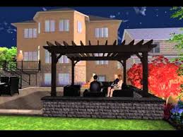 corner lot 3d landscape design night video royal stone