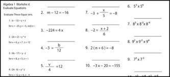 free worksheets algebra 1 printable worksheets free math
