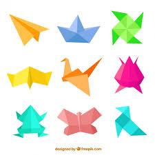 Origami Illustrator - origami birds illustration with paper fold vector free