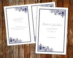 customizable wedding programs 37 best diy wedding programs images on diy wedding