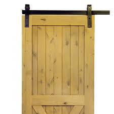 Barn Door Store by Krosswood Knotty Alder 2 Panel Single X Solid Wood Core Barn Door Slab