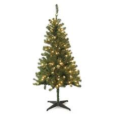 shop jeco 5 ft pre lit artificial tree with 200 twinkling