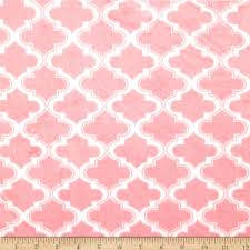 Moroccan Tile by Minky Moroccan Tile Light Pink Discount Designer Fabric Fabric Com