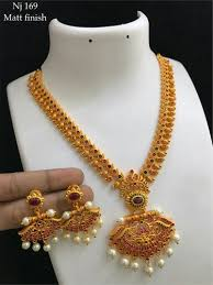 fashion necklace sets images Gold traditional long haram necklace set rs 2000 piece taran 39 s jpeg