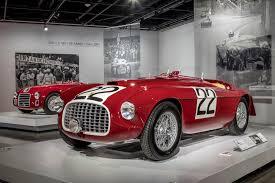 first ferrari race car seeing red 70 years of ferrari petersen automotive museum