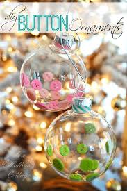 diy clear ornament button and washi diy