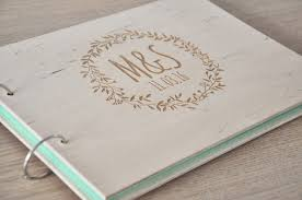 rustic wedding album wedding guest book kraft wedding guest book rustic