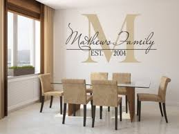 dining room decals custom name wall decals for girls room inspiration home designs