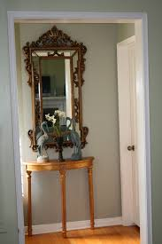 astounding round half wooden table with antique mirror as small