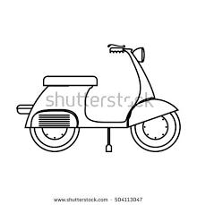 golf cart vector sketch black white stock vector 663135331