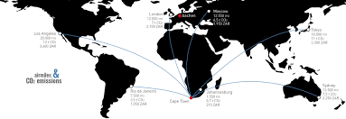 South Africa On World Map by Ctct U2013 A Really Simple Way To Offset Your Airmiles