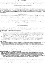 Entertainment Industry Resume Lawyer Resume Examples Legal Resume Sample India Legal Resume