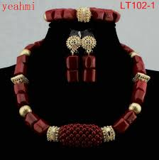 beaded necklace jewelry designs images 2018 new genuine coral beads necklace jewelry nigerian wedding jpg