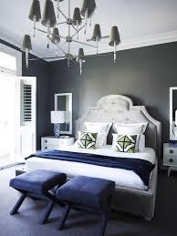 Gray Velvet Tufted Headboard Contemporary Bedroom Greg Natale - Jonathan adler bedroom