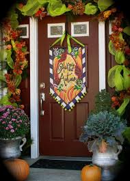 Friendly Halloween Outdoor Decorations by The Best 35 Front Door Decors For This Year U0027s Halloween