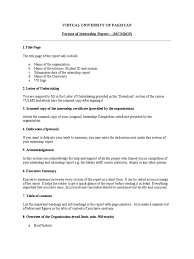 sample of acknowledgement letter for project report internship report format swot analysis internship
