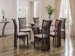 vida living amalfi marble dining table 1800 u0026 6 elgin chairs
