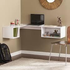 Corner Desks With Storage Wade Logan Zainab Wall Mount Corner Desk In The Home Office