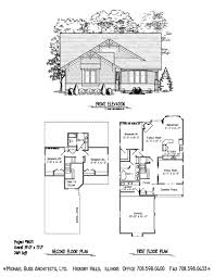 project 98071 craftsman cottage small home plan infill lot