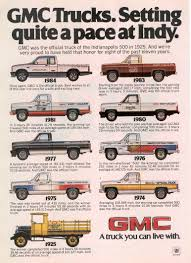 gmc jimmy 1980 indianapolis 500 official trucks special editions 1974 1984