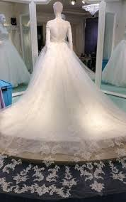 wedding dress with trains long length trains bridals dresses
