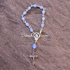 single decade rosary silver plated