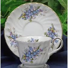 porcelaine bone china forget me not fine bone china cup and saucer set of 4