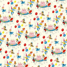 5 sheets of vintage birthday wrapping paper dotcomgiftshop