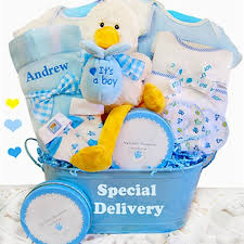 delivery gift baskets baby boy gift basket it s a boy personalized baby gifts