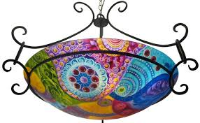 Colored Chandelier Painted Glass Chandelier Archives Floravita Painted