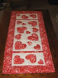 valentine s day table runner hearts everywhere it s valentines day some of the quilts i have