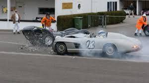 classic mercedes race cars photo crash at goodwood damages mercedes benz 300sl u0027porter