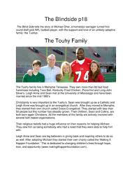 The Blind Side Of Love The Blindside Movie By Georgescott Teaching Resources Tes