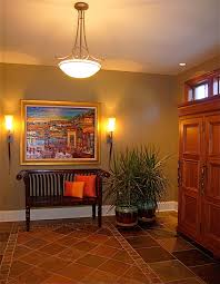 Bench By Front Door Entryway Bench Ideas Entry Transitional With Striped Wallpaper
