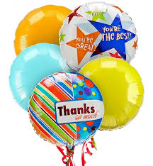 mylar balloon bouquet thank you balloon bouquet 5 mylar balloons a lovely
