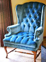 Velvet Wingback Chair Velvet Blue Chair Skyline Furniture Arm Chair In Velvet Navy Free