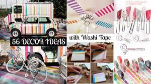 56 decor ideas with washi tape youtube