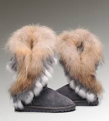 womens ugg boots clearance ugg leather moccasins cheap ugg fox fur boots 8688 grey
