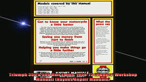 free download triumph 350 500 unit twins 195873 owners workshop