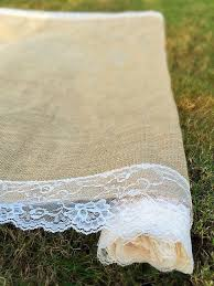ivory aisle runner sale wedding burlap aisle runner with scalloped ivory lace