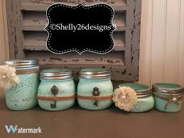 Mason Jar Bathroom Storage by Mason Jar Vanity Set Housewarming Gift Decorative Mason
