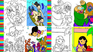 lilo and stitch coloring pages book disney colouring learn colors
