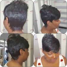 short hair style glue less quick weave short hair styles