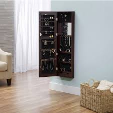 innerspace wall hang deluxe mirror jewelry armoire walmart com