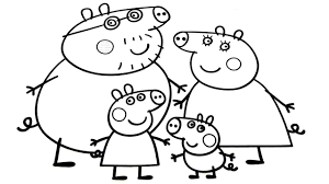 coloring pages peppa the pig family coloring pages peppa pig book video for kids ribsvigyapan