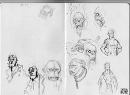 hellboy sketches by on the moon on deviantart