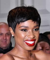 Jennifer Hudson Short Hairstyles Jennifer Hudson Short Straight Casual Pixie Hairstyle Black